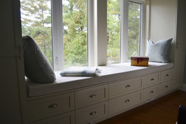 Custom Window Bench Cabinet