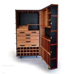 Custom Cedar Whiskey Cabinet