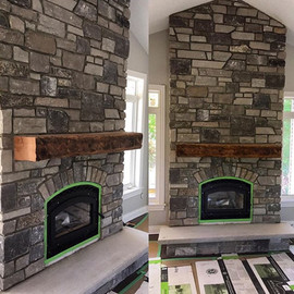 Floating Fireplace Mantle