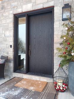 Solid Oak Front Entrance