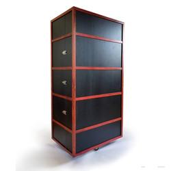 Custom Cedar Whiskey Cabinet Closed