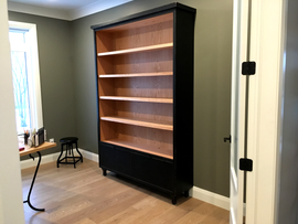Custom Bookshelf with Drawers