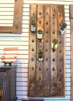 Barnboard Wine Rack