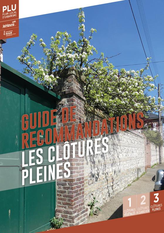guide de  recommandations les clôtures  pleines