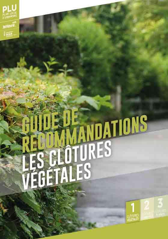 guide de  recommandations les clôtures  végétales