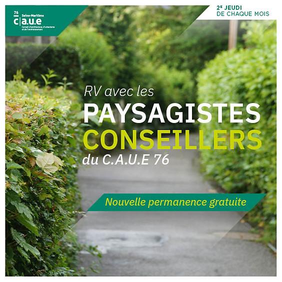 PERMANENCE : RV AVEC LES PAYSAGISTES-CONSEILLERS DU C.A.U.E