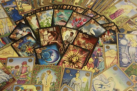 Gypsy Rose tarot cards laid on table