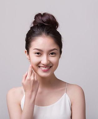 pretty asian girl smiling