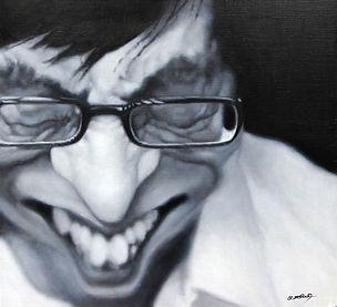 유재석 57×52 (15호변형) Oil on canvas