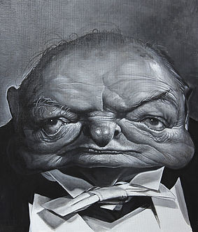 윈스턴처칠 53×45 (10호) Acrylic on ca