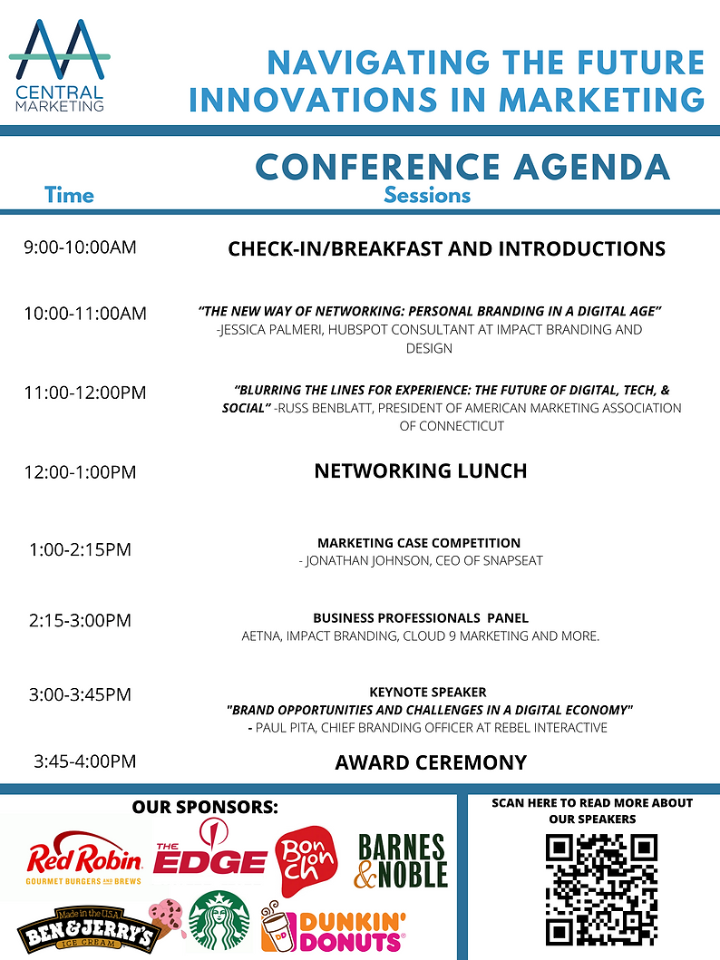 marketing conference AGENDA WITH SPONSOR