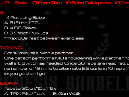 Daily Workout 7.14.21