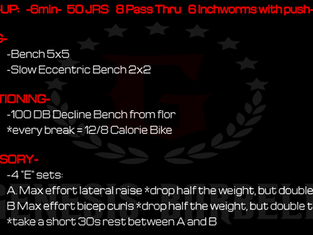 Daily Workout 7.30.21