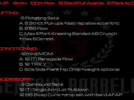 Daily Workout 7.23.21