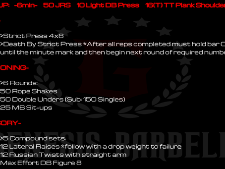 Daily Workout 7.8.21