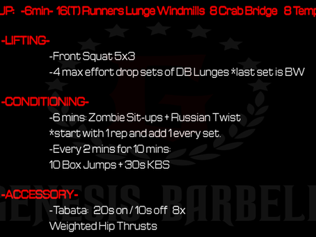 Daily Workout 7.19.21