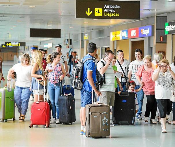 Aeropuertos congestionados