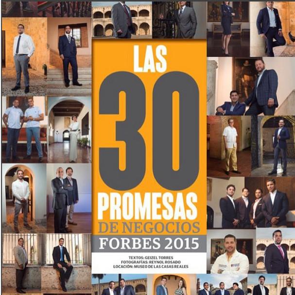 WTS forma parte de´´Las 30 promesas de negocios´´ de la Revista Forbes Agosto 2015