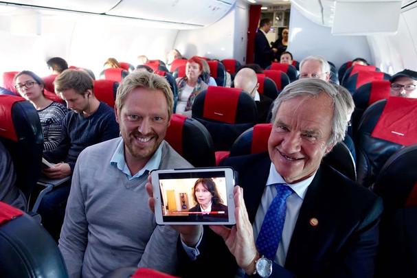 Norwegian Air, primera aerolínea europea en ofrecer televisión en directo a bordo!