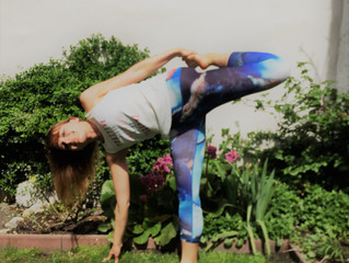 End of April - spring heart opening pose