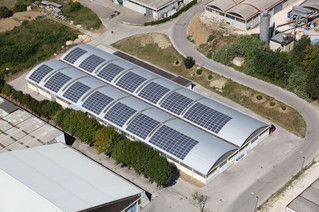 Impianto fotovoltaico su capannone industriale 177 kWp \ S. Angelo in Lizzola (PU)