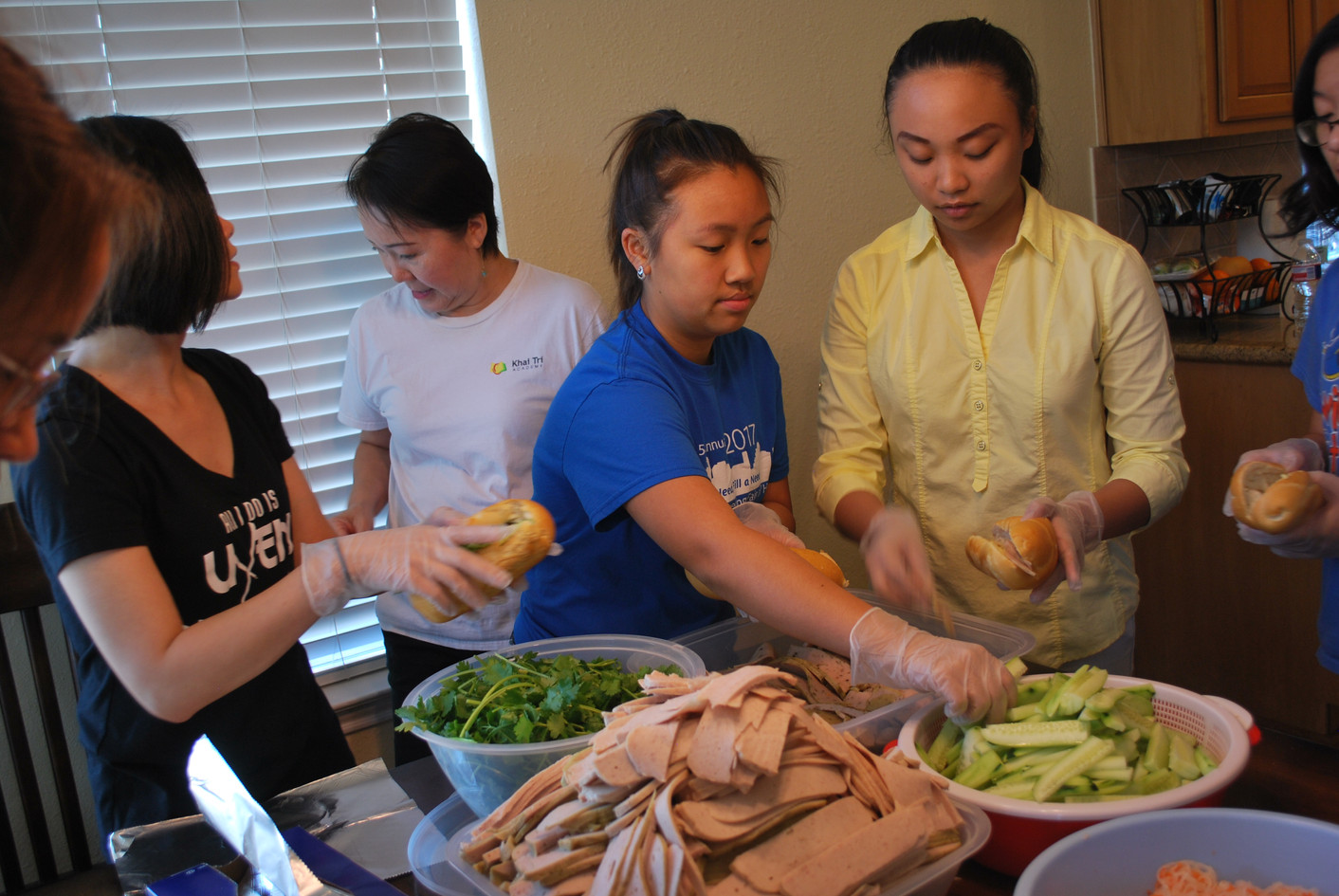 Making Vietnamese Sandwiches for the Flooded Cambodian Villiage