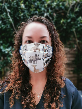 Safari Stripe Face Mask