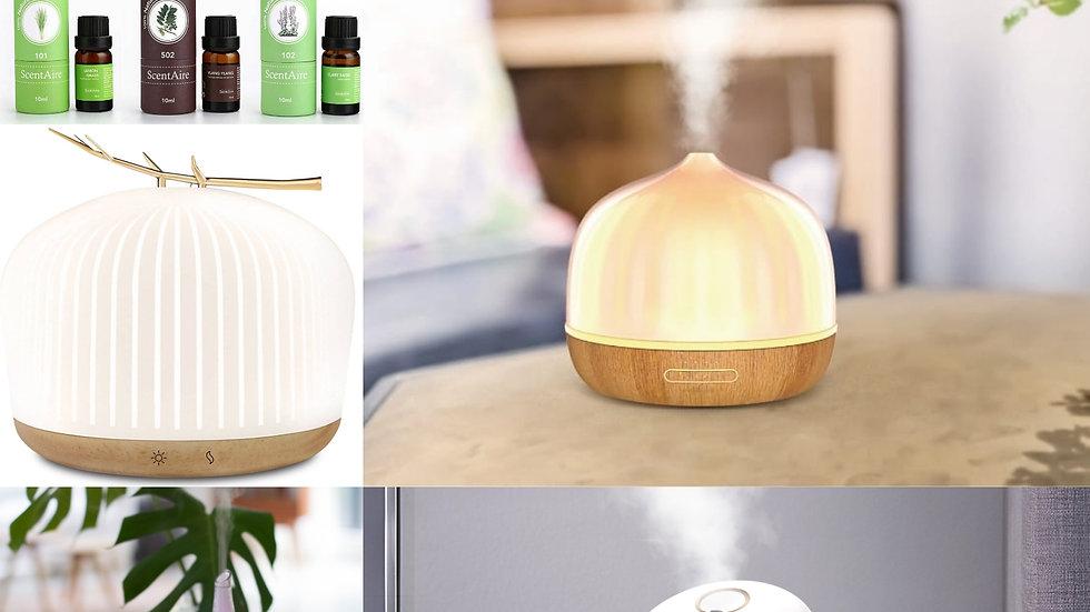 Aroma Diffuser Model & Receive 3 Free Essential Oils & Handsanitizer
