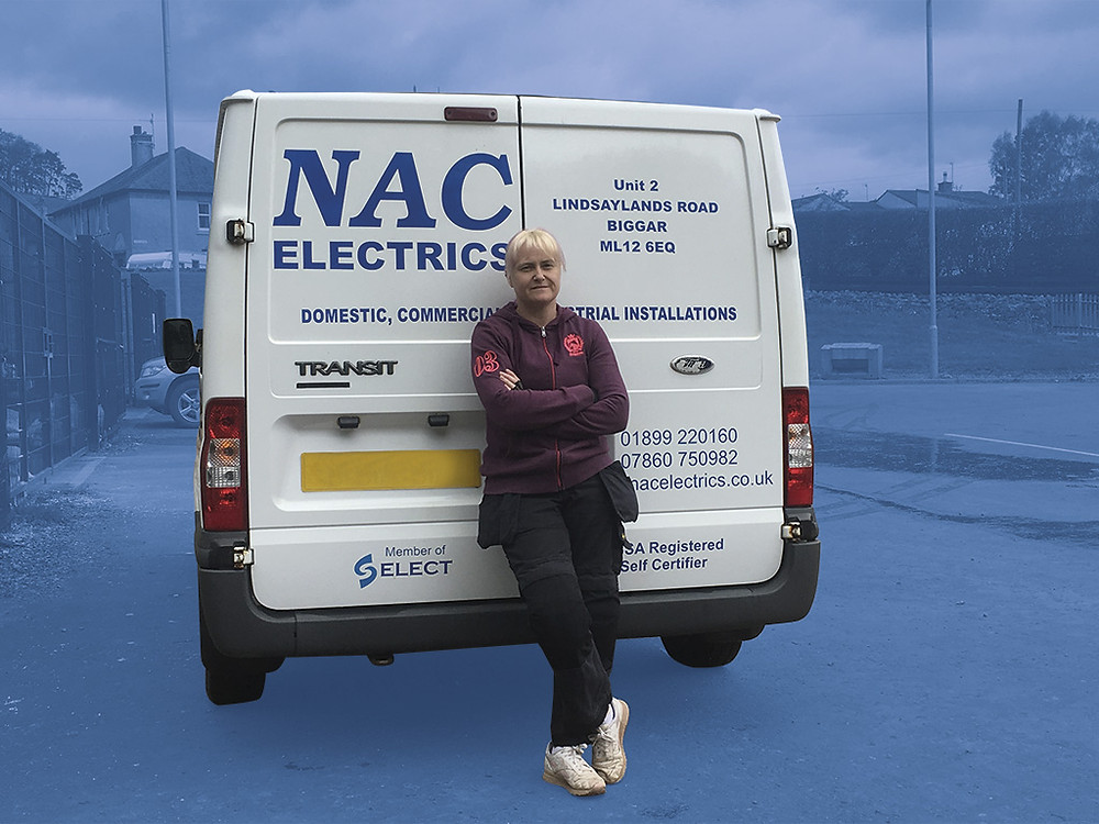 Susan Curatolo pictured by her company van