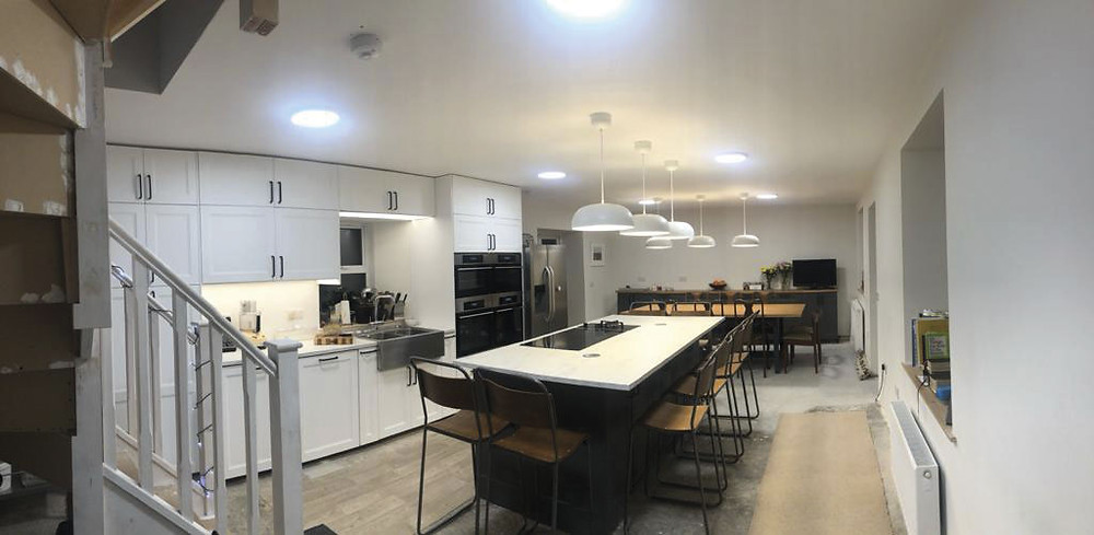 The kitchen finished  in time for Christmas