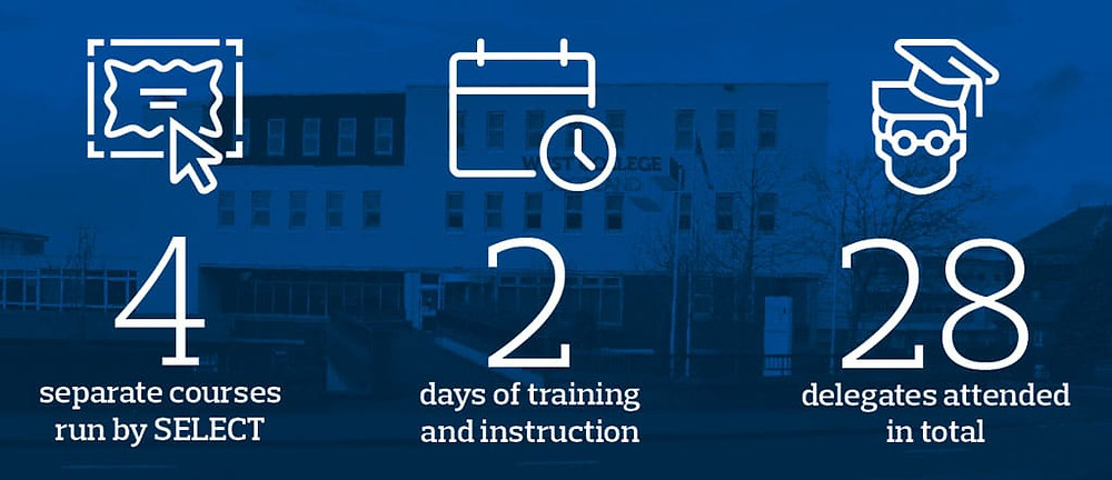 Courses by the numbers: 4 course run by select; 2 days of training; 28 delegates in total