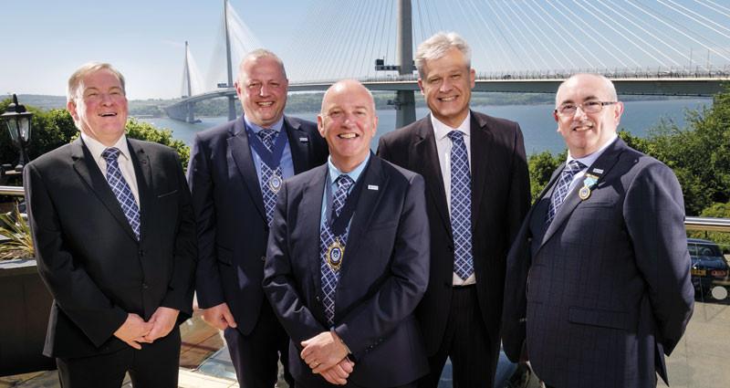 From left: John McGhee, Kenny Duncan, Kenny Griffin, Darrell Matthews and Eric Rae enjoy the summer sunshine