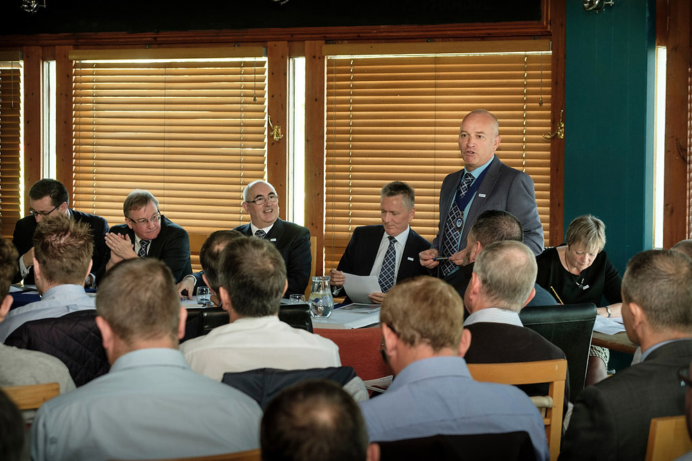 Kevin spoke at this year's AGM in Stirling, after taking over from Eric RAE
