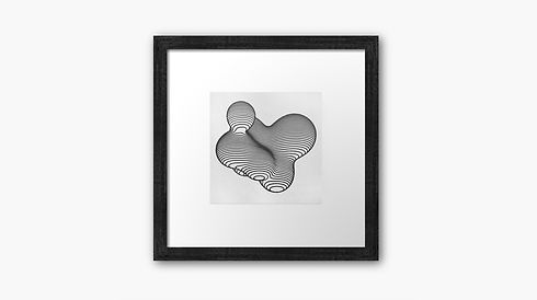 Generative artwork frame