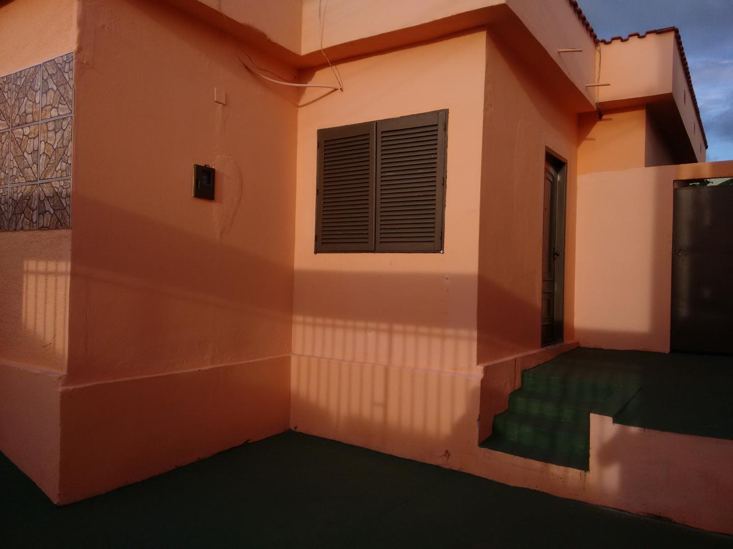 área de garagem