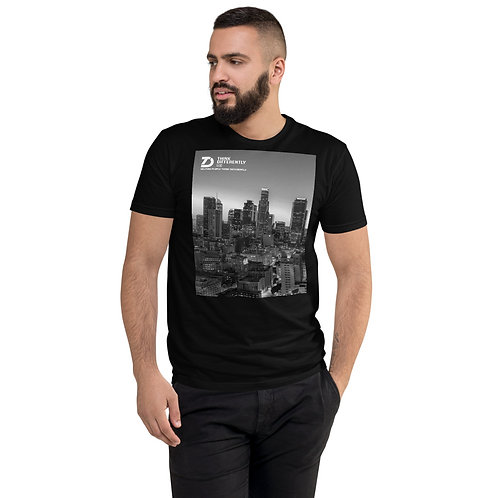 Think Differently LLC L.A. Skyline Short Sleeve Fitted T-shirt