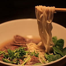 Beef Broth with Sliced Marinated Beef, Spinach (Spicy or not)