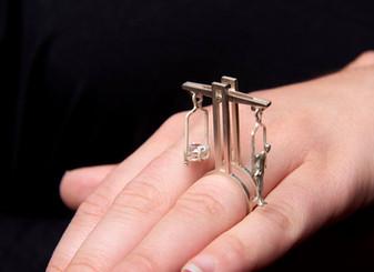 ring - silver, glass - by Ya Studio- Yasmin & Arye Photographers