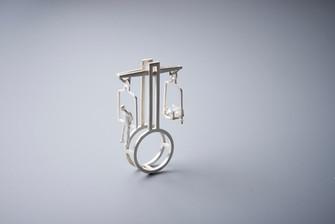 ring - silver, glass - Photographed by Ya Studio- Yasmin & Arye Photographers