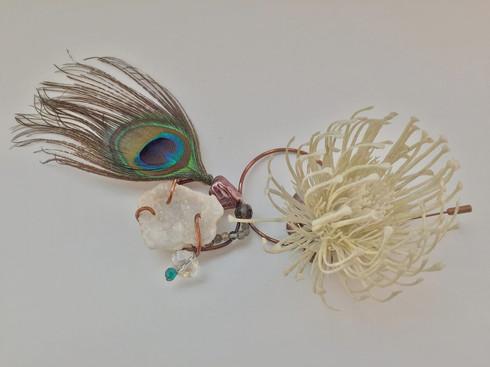 Fake Flowers and Druzy Peacocks