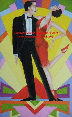Art Deco 1920s dance art