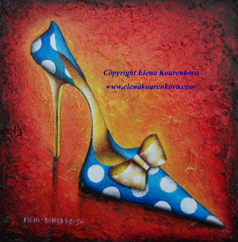 quirky stiletto shoe painting