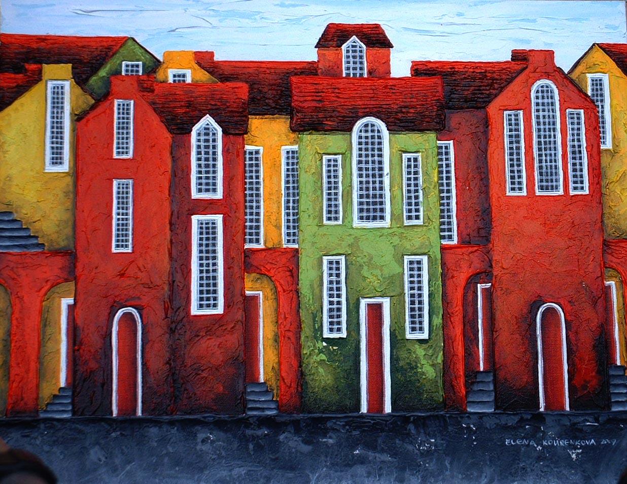 elena kourenkova houses painting