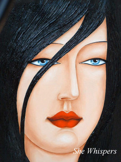 figurative face painting of a girl