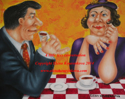 quirky humorous romance paintings