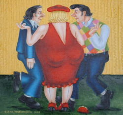 quirky humorous figurative art image