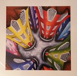 cityscape buildings giclee print