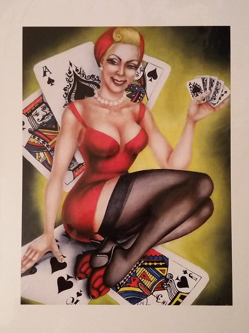 "Limited edition (100) signed giclee print ""Pin-Up"""