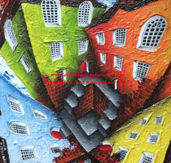 twisted building print by artist