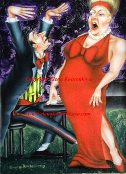 humorous music art painting